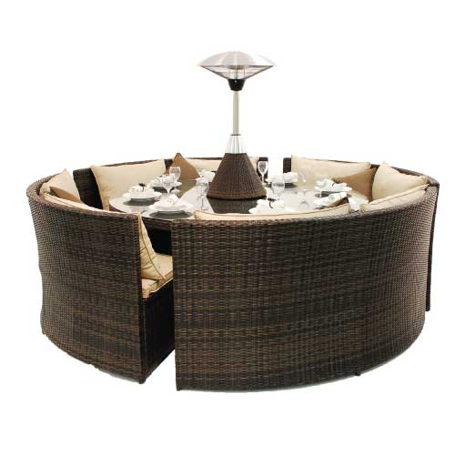 Rattan Flat Weave Casual Dining Sets Furniture